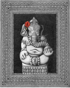 ganesh-with-hibiscus