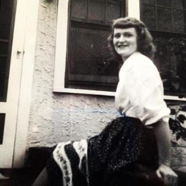 Betty Grantz August 7th 1948. Less than two months after having my dad!